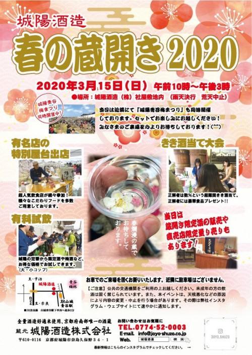 城陽酒造春の蔵開(2020)